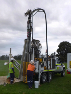 Aircore drill rig